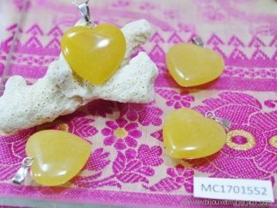 Pendentif Calcite Orange