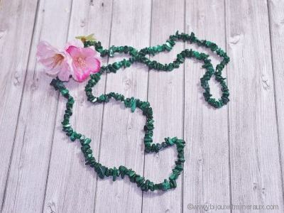 Collier Malachite - 90 cm