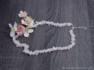 Collier Quartz Rose - 45 cm