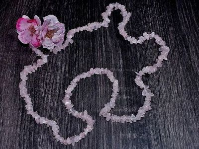 Collier Quartz Rose - 90 cm
