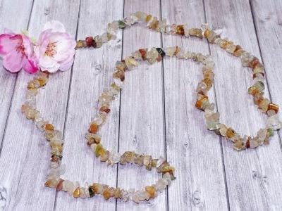 Collier Multi Quartz naturel - 90 cm