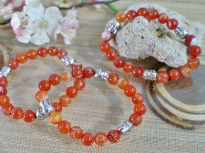 Bracelet Cornaline Bouddha
