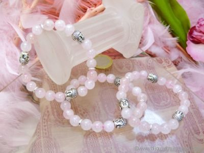 Bracelet Quartz Rose Bouddha