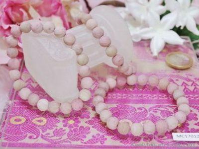 Bracelet Rhodochrosite Givrée