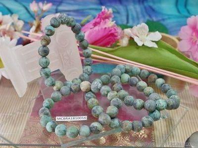Bracelet Turquoise Givrée d'Afrique du Sud