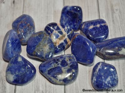 Galets Sodalite - De 11 à 14 gr environ