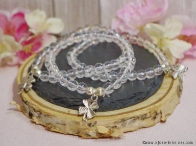 Bracelet Cristal de Roche Porte Bonheur