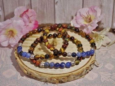 Bracelet Homme 3 Oeils et Sodalite