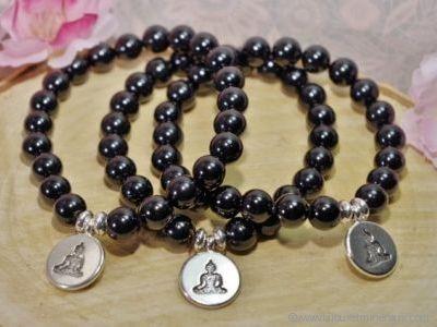 Bracelet Tourmaline Noire Bouddha Méditation