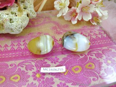 2 Galets Agate Naturelle