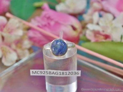 Bague Lapis Lazuli forme cabochon en argent 925°