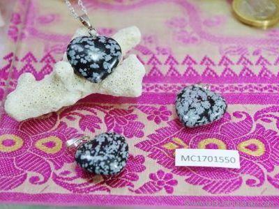 Pendentif Obsidienne Neige