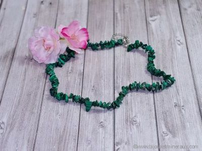 Collier Malachite - 45 cm