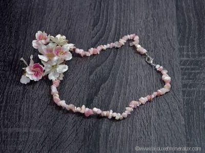 Collier Opale Rose - 45 cm