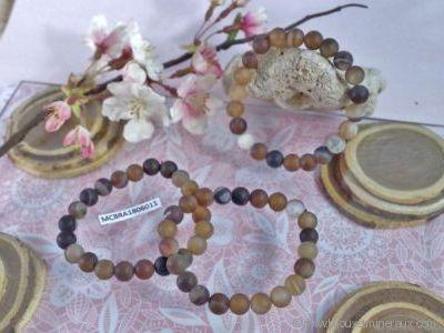 Bracelet Agate Cornaline Givrée