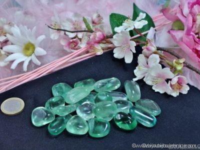 Galets de Fluorine verte violet - De 15 à 25 gr environ