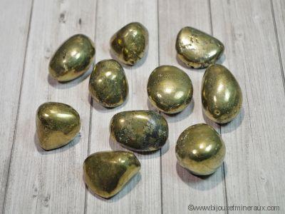 Galets de Chalcopyrite - De 16 à 18 gr environ