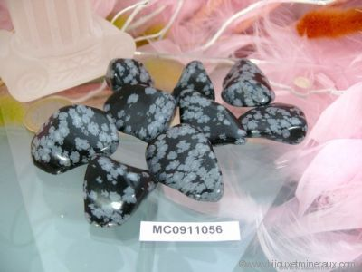 Galets d'Obsidienne Neige - De 5 à 7 gr environ