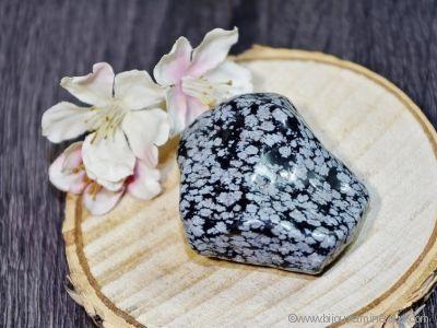 Obsidienne flocons de neige