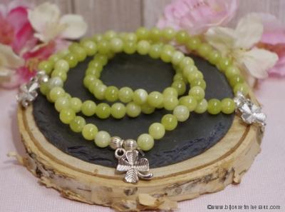 Bracelet Jade Porte Bonheur