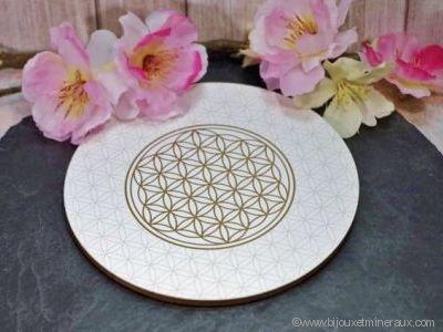 Support Fleur de Vie pour recharger vos minéraux