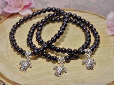Bracelet Tourmaline Noire Tortue