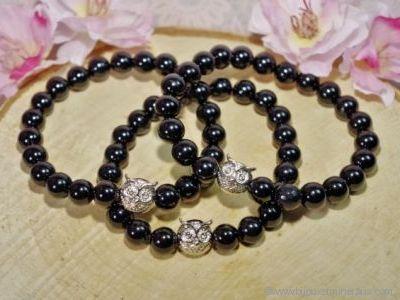 Bracelet Tourmaline Noire Chouette