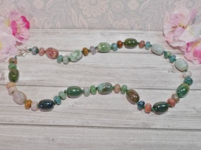 Collier Agate Indienne - 45 cm