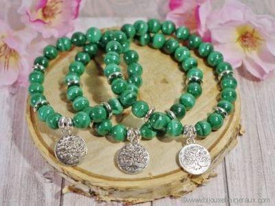 Bracelet Malachite Véritable