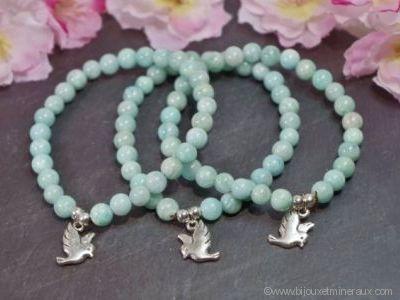 Bracelet Amazonite Colombe de Paix