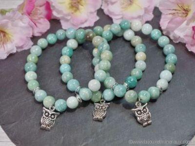 Bracelet Amazonite Chouette