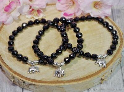 Bracelet Tourmaline Noire Eléphant