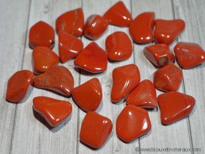 Galets de Jaspe rouge - de 5 à 8 gr