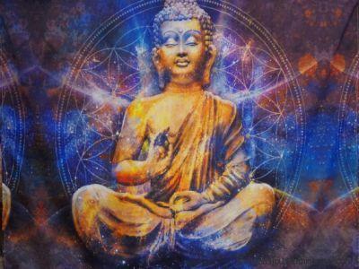 Tenture Bouddha et fleur de vie
