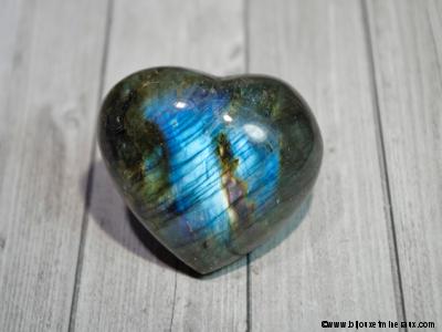 Cœur en Labradorite
