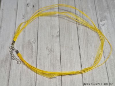Cordon ruban jaune avec fermoir