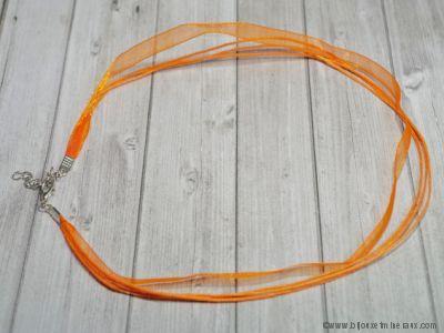 Cordon ruban orange avec fermoir