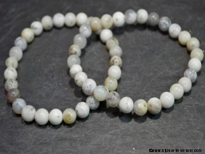 Bracelet Merlinite - Opale Dendritique